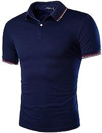 YCHENG Mode Polo Sport Homme Manche Courte Casual Poloshirt T-shirt
