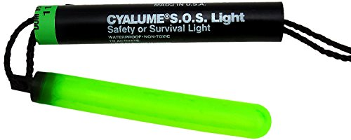 "41XFYQVJ9bL - Cyalume Technologies SA9-542740AM Green Signalling Device S.O.S., 5.25"" Long, 8 hour Duration (Pack of 50)"