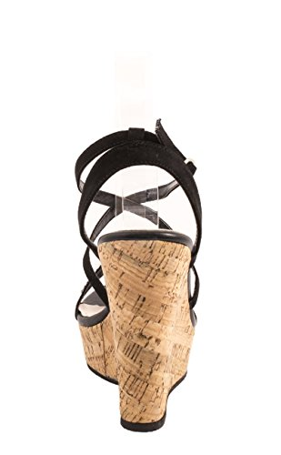 femme chaussures Noir 3 Elara compensées 4wqCEa4x
