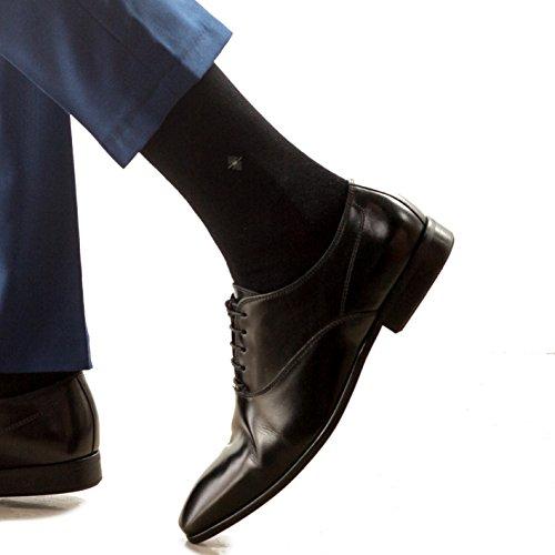 12 o 6 pares de calcetines de bambú negros talla 40 - 44 / 12 or 6 pairs of black bamboo socks Size 40-44 - Encaje ligado a mano - Talón y puntera reforzada (12 Pares)