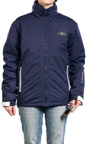 Preisvergleich Produktbild PEARL Übergangs-Jacke Navy-Blau mit Fernbedienung für iPod & iPhone Größe XL