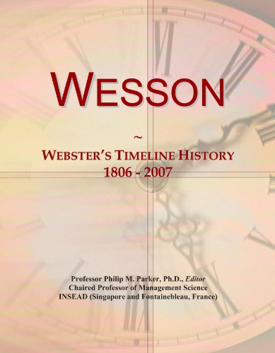 wesson-websters-timeline-history-1806-2007