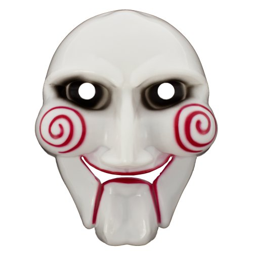 Jigsaw Kind Kostüm - Smartfox Saw Maske Billy Jigsaw Fasching Halloween Karneval Theater Horrormaske