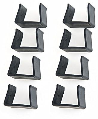CLP Polyrattan Gartenmöbel Flachrattan-Verbindungsset | Verbindungsklammern für CLP-Gartenmöbel