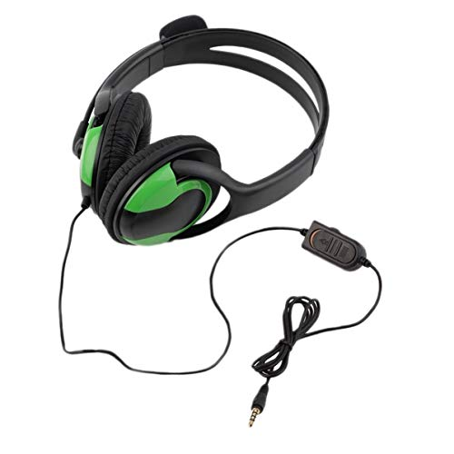 WEIWEITOE Hot 3,5mm Audio Wired Gaming Headset kopfhörer kopfhörer steoro mikrofon für Playstation 4 ps4 Gaming pc Chat für ipad / mp3 / 4, Black & Green,