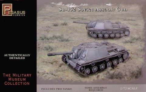 Pegasus PG7668 - 1/72 Su 152 Soviet Assault Gun, Plastikmodellbausatz, 2 Bausätze