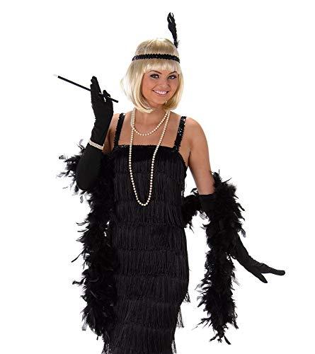 Jazz Kostüm Dancer - Black Flapper Ladies Fancy Dress 20s 1920s Jazz Charleston Womens Adults Costume