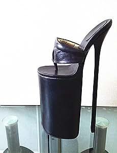 Qh& 2016 Women's Shoes 30cm Heel Height Sexy Round Toe Stiletto Heel sandals (More Colors) , golden-us12 / eu44 / uk10 / cn46 , golden-us12 / eu44 / uk10 / cn46