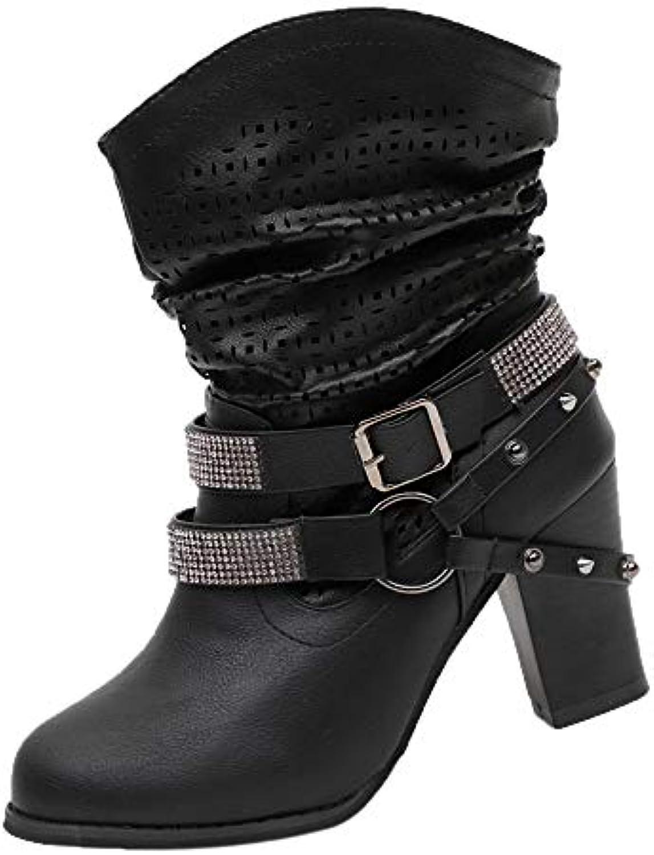 MORCHAN Femmes Automne Hiver Évider Bottines ChaussuresB07KG3LHLWParent Dames Talon Demi Martin Bottes ChaussuresB07KG3LHLWParent Bottines 4e7886