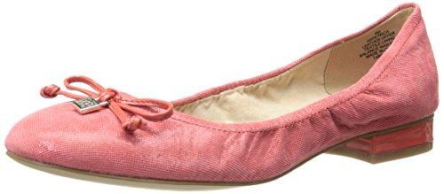 Anne Klein AK Women's Petrica Reptile Ballet Flat, Red, 7 M US (Flat Red Ballet)