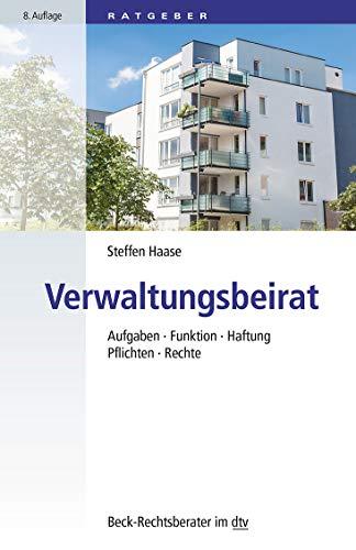 Buchcover Verwaltungsbeirat: Aufgaben, Funktion, Haftung, Pflichten, Rechte usw. (dtv Beck Rechtsberater)