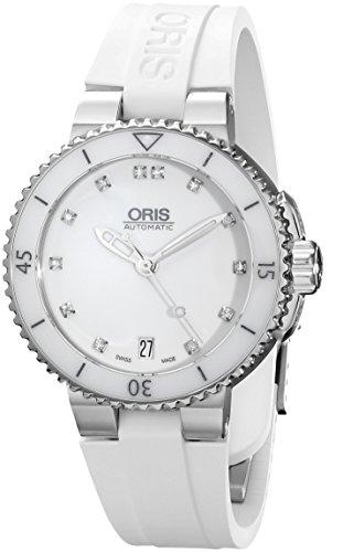Oris 01 733 7652 4191 07 4 18 31 - Reloj de pulsera Mujer, Caucho, color Blanco