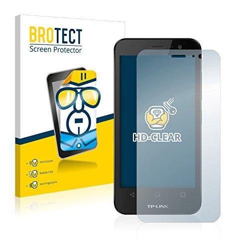 BROTECT Schutzfolie kompatibel mit TP-Link Neffos Y50 [2er Pack] klare Bildschirmschutz-Folie