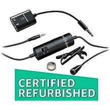 (CERTIFIED REFURBISHED) Audio Technica AUD ATR3350IS Omni Lavalier Microphone For Smartphones