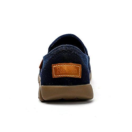 Boots Männer Do Top Loafer Blue Slip Low on Leichte Wohnungen schuhe bomrvii Casual Canvas ASxUXq5