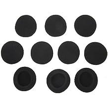 5 Pares de Fundas de Auriculares de Esponja de Color Negro de Talla 45mm