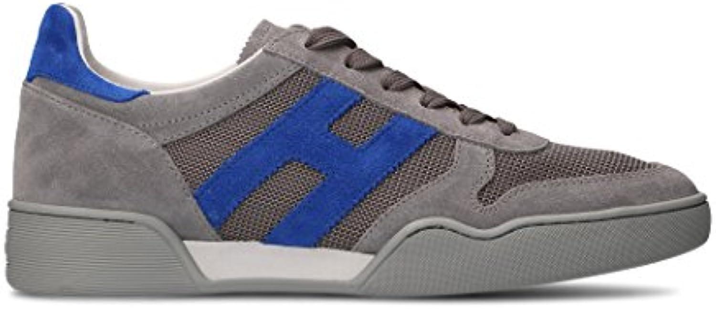 Hogan Herren HXM3570AC40J0X749G Grau Leder Sneakers