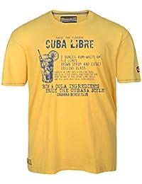 Camiseta amarilla Redfield con estampado en talla grande