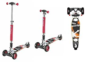 max sports street la board 6 tri scooter roller mit drei. Black Bedroom Furniture Sets. Home Design Ideas