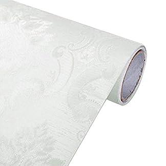 Papel Pintado Europeo Estilo Damasco Autoadhesivo PVC Impermeable 3D Sala De Estar Dormitorio Pared De Fondo,F,0.6m*3m