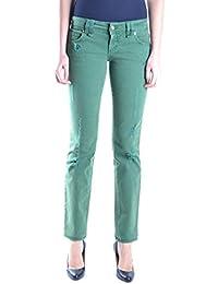 Galliano Damen MCBI130015O Grün Baumwolle Jeans
