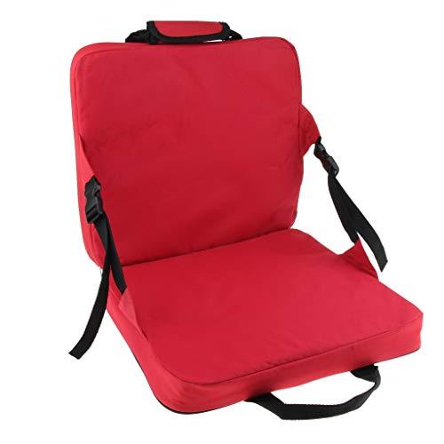 Portable & Lightweight Stadium Sitzkissen Stuhl Bank Tribüne Mit Rückenstütze for Patio Garden Party Wandern Camping (Color : Red) - Patio Bank