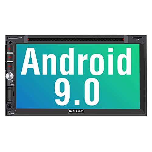 PUMPKIN Android 9.0 Autoradio Radio mit Navi Europakarten 2019 / DVD Player Unterstützt Bluetooth DAB+ CD Android Auto WiFi 4G USB MicroSD 7 Zoll Bildschirm Universal