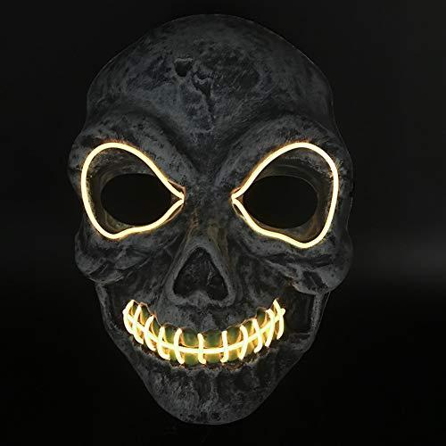 Kostüm Party Blitz - Halloween Festival LED Maske EL Kaltlicht Halloween Kostüm PVC Cosplay Nachtlicht Glitzer Party-LQCN, Batterien