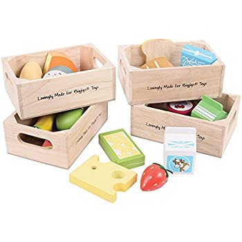 bigjigs toys healthy eating dairy food set wooden play food