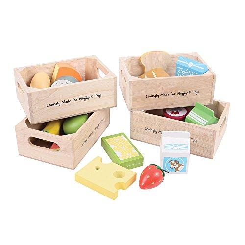 Bigjigs Toys Set Gesunde Ernährung mit Milchprodukten