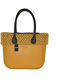 O bag grande giallo narciso con manici lunghi bordo e sacca 22b01ab37a0