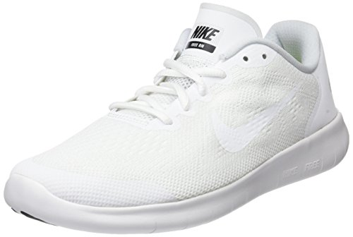 Nike Kinder und Jugendliche Free Rn 2017 (gs) Laufschuhe, Mehrfarbig White/Black/Pure Platinum, 37.5 EU (Nike-schuhe Skate Kinder)