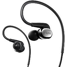 AKG N40canal tipo auriculares alta resolución correspondiente 2way (dinámico/BA) híbrida Cable desmontable negro cromo n40sil