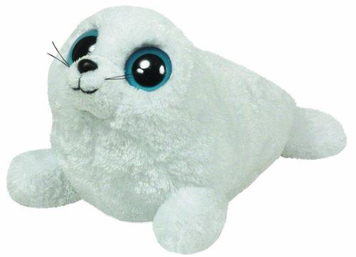 "Beanie Boo Seal - Iceberg - White - 15cm 6"""