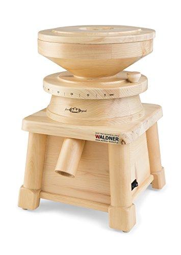 WALDNER Mulino elettrico Macina Cereali in legno di Pino da 360 W, resa approssimativa 170 g/min Farina fine