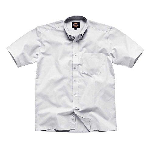 Dickies Mens Workwear Oxford Weave Short Sleeved Shirt White SH64250W weiß