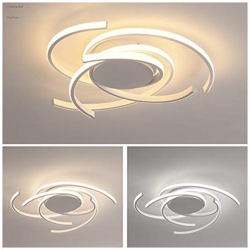 LED Tavolo da Pranzo Plafoniera Dimmerabile Soffitto Lamp Moderno Forma di Fiore Design Lampada a Sospensione Tondo Telecomando Soggiorno Camera da Letto Cucina Light Sala da Pranzo Ufficio Lampadari