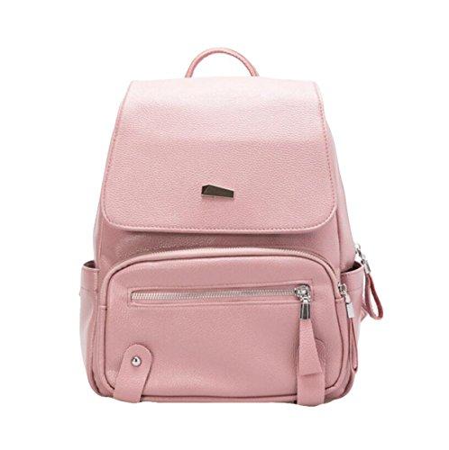 Schulterbeutelpers5onlichkeit Wilde Damen Beutel Multifunktionsrucksack Beiläufige Art Und Weise College Beutel Pink