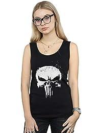 Marvel Mujer The Punisher TV Skull Logo Camiseta Sin Mangas