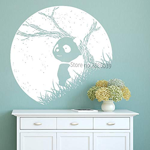 zhuziji Panda in der Nacht Ansicht Vinyl wandaufkleber Schlafzimmer schlafsaal Hause wandkunst Dekoration wandbilder abnehmbare einzigartige tapete Neue 112x116cm