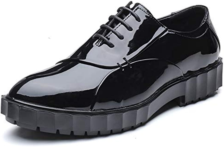 XHD-Scarpe Business Casual da Uomo Oxford Casual Classic Scarpe da Ginnastica in Pelle Verniciata in Vernice con...   moderno    Scolaro/Ragazze Scarpa