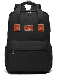 7aec608d3f JANSBEN Impermeabile Laptop Zaino per Donna Uomo Scuola Backpack con porta  di ricarica USB, Casual