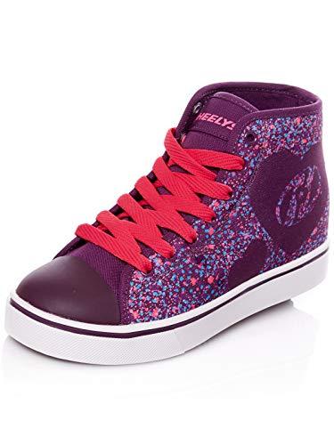 Heelys Purpur Rosa Heart Veloz Hi-Top Schuhe Mit Rollen Für Mädchen (EU 33 / US 2, Purpur) - Rosa Heely-schuhe