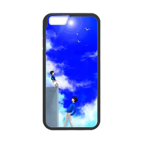 Detective Conan coque iPhone 6 4.7 Inch Housse téléphone Noir de couverture de cas coque EBDXJKNBO10134