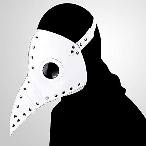 Steampunk Pest Schnabel Maske Halloween Requisiten Geschenk PU Leder-Metall-Maske Für Jung Und Alt, Um Weiße Mode Persönlichkeit Zu ()