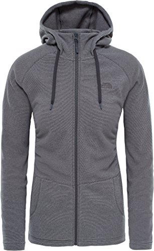The North Face Mezzaluna Full Zip Hoodie Women Graphite Grey Stripe Größe XL 2018 Jacke