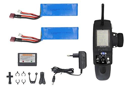 FPS RTR Bundle: Rayline Funrace 03 FR03 A15, L303, RC Modellbau Elektro Auto, Offroad Speed Buggy, Maßstab 1:10, Farbe: Schwarz / Rot, Komplett Set: 2.4 GHz Fernbedienung + 2x 2500 mAh LiPo Akku + 6x AA - 3