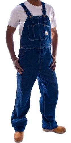 Carhartt - Latzhose, Denim - Stone washed jeanslatzhose jeans arbeit latzhosen m R07-40W-34L