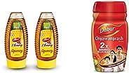 Dabur Honey 400g Squeezy Pack (Buy 1 Get 1 Free) and Dabur Chyawanprash 1kg Combo Pack