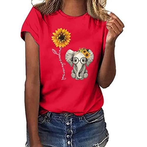 SHJIRsei Magliette Manica Corta Donna Estate Camicia Donna Elegante Maglietta Taglie Forti Tumblr Tops 2019 Casuale Loose Estate Basic Manica a Pipistrello Camicetta T-Shirt